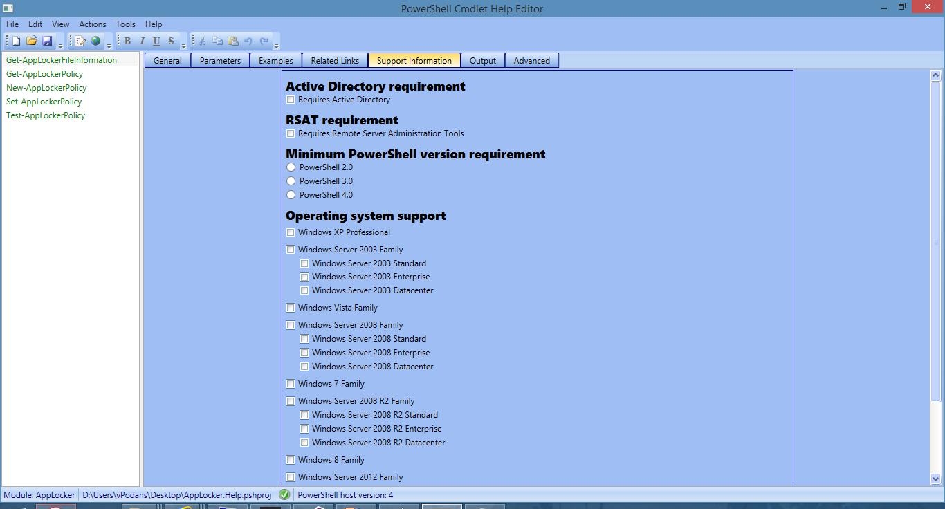 PowerShell Cmdlet Help Editor 3 0! - PKI Extensions