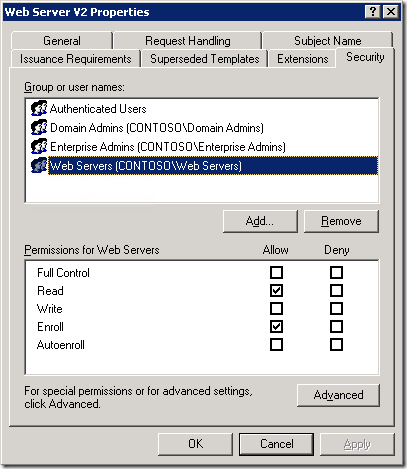Get certificate template effective permissions with powershell pki when you click advanced button you wont see effective permissions tab like in ntfs permission editor yelopaper Choice Image