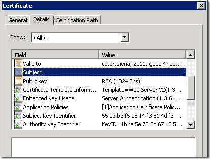 Web server certificate enrollment with san extension pki extensions empty subject field yelopaper Gallery