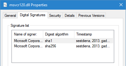 Reading multiple signatures from signed file with PowerShell