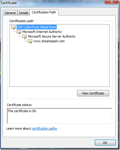 Valid certification path