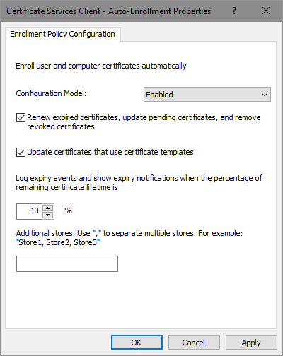 Certificate Autoenrollment in Windows Server 2016 (part 3) - PKI