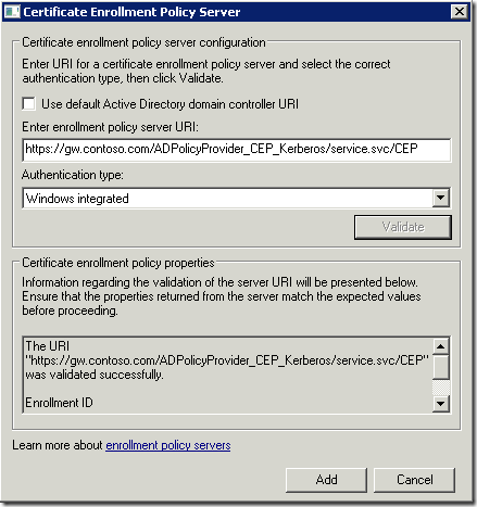 CEP URL validation