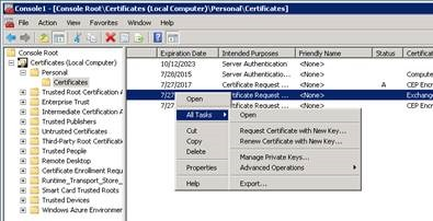 Steps for renewing NDES Service Certificates - PKI Extensions