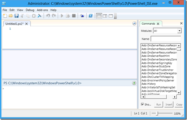 PowerShell ISE general look