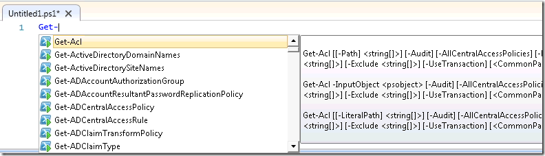 Intellisense!
